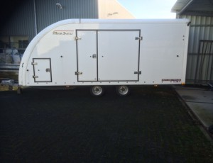 BRIAN JAMES CLOSED CAR TRAILER/ TRANSPORTER/ AUTOAMBULANCE