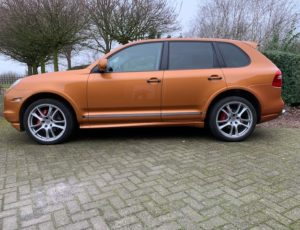 Porsche Cayenne GTS in the introduction colour Nordic gold