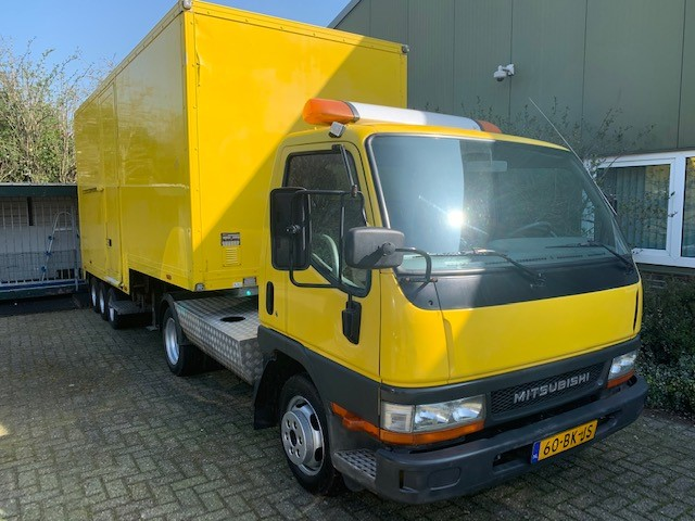 Mitsubishi Canter BE and Doornwaard Be trailer